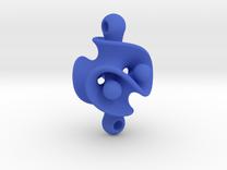 Triple Torus Pendant in Blue Strong & Flexible Polished