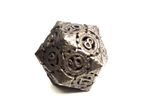 Steampunk D20 in Matte Bronze Steel