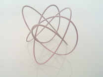 Lissajous (5, 4, 3) (0, π/2, π/2) in Metallic Plastic
