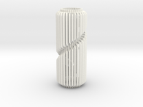 Spiral Column Lamp V1 in White Strong & Flexible Polished