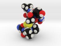 Oxytocin Nona Peptide Molecule Model  in Full Color Sandstone