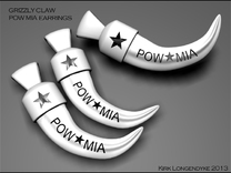 Grizzly Claw Pow Mia Earrings in White Strong & Flexible Polished