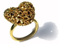 365 Hearts Ring in 18K Gold Plated
