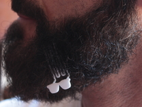 Sunglasses for beard - lateral wearing in White Strong & Flexible