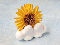 Palm-sized Cloud Vase 3 in Gloss White Porcelain