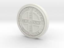 1:12 Manhole Cover in White Strong & Flexible