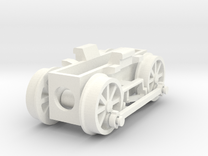 0e drive for Backer & Rueb steam loco in White Strong & Flexible Polished
