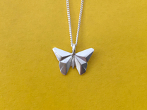 Origami Butterfly in Polished Silver