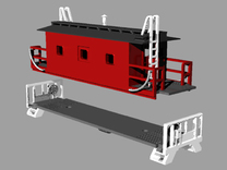 N Scale Monon Transfer Caboose in Frosted Ultra Detail