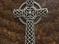 Celtic Cross - Small version in Stainless Steel
