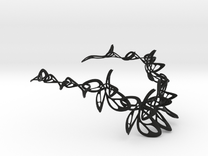 Dancing Butterfly Long Necklace in Black Strong & Flexible