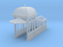 S Scale (1:64) Subway Kiosk Entrance in Frosted Ultra Detail