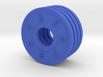 Shield Dial in Blue Strong & Flexible Polished