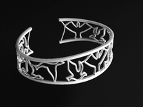 Birds Silhouette Bracelet (small) in Polished Silver