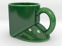 Quiet As A Mouse Cup in Gloss Oribe Green Porcelain