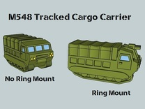3mm M548 - Covered Wagon, With Ring-Mount (4 pcs) in White Strong & Flexible