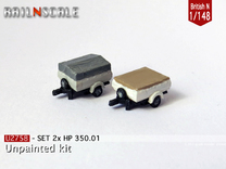 SET 2x HP 350.01 (British N 1:148) in Frosted Ultra Detail