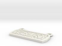 Aurebesh Pendant in White Strong & Flexible