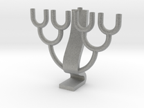 Binary Tree Menorah in Metallic Plastic