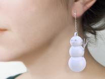 Geometric Snowman 01 in White Strong & Flexible Polished