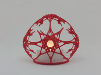 Christmas Stars (dual purpose ornament) in Red Strong & Flexible Polished