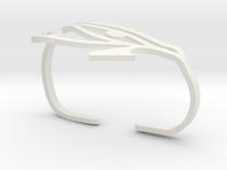 Eye of Horus Two Finger Ring in White Strong & Flexible