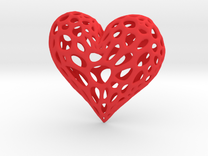 Organic Heart in Red Strong & Flexible Polished