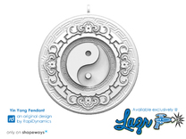 Yin Yang Pendant in White Strong & Flexible Polished