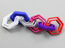 hex chain in White Strong & Flexible