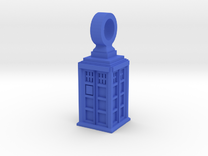 Police Box Pendant in Blue Strong & Flexible Polished