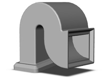 Box Car Ventilator - Rectangular Inlet and Duct in Frosted Ultra Detail