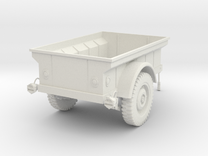 1:16 USA MBT Jeep Trailer v2 in White Strong & Flexible