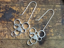Exhale Bubble Earrings in Premium Silver