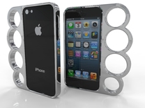 4 Finger IPhone 5 Case in White Strong & Flexible