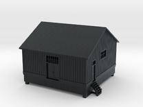 CNR Washago Freight Shed (N-scale, 1:160) in Black Hi-Def Acrylate