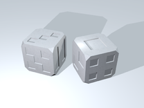 Box Dice in White Strong & Flexible Polished