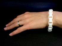 Link Bracelet in White Strong & Flexible