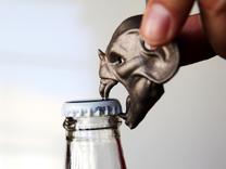 Vampire Head Bottle Opener in Stainless Steel