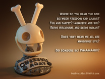 Rabbid Skull in Full Color Sandstone