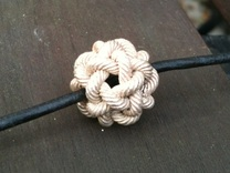 Rope Bead (L) in Raw Silver