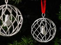 merry bird - christmas ornament in White Strong & Flexible