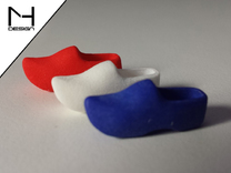 Wooden Shoe / Klomp in White Strong & Flexible Polished