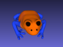 Orange Poison Dart Frog in Full Color Sandstone