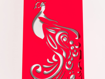 Peacock iphone Case in Red Strong & Flexible Polished