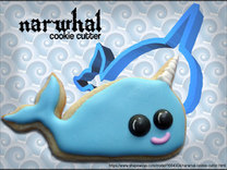 Narwhal Cookie Cutter in White Strong & Flexible