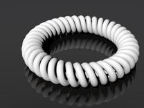 Twisted Bracelet in White Strong & Flexible