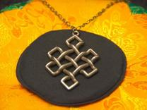 Endless Knot Pendant in Stainless Steel