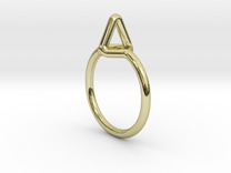 """""""Summit"""" Ring S.02, US size 7.5, d=17,5mm (all siz in 18k Gold Plated: 7.5 / 55.5"""