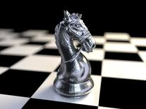 Knight Chess Piece in White Strong & Flexible
