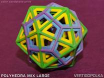 Polyhedra Mix Large in Full Color Sandstone